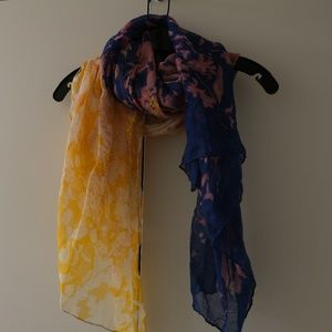 Gold and Purple scarf